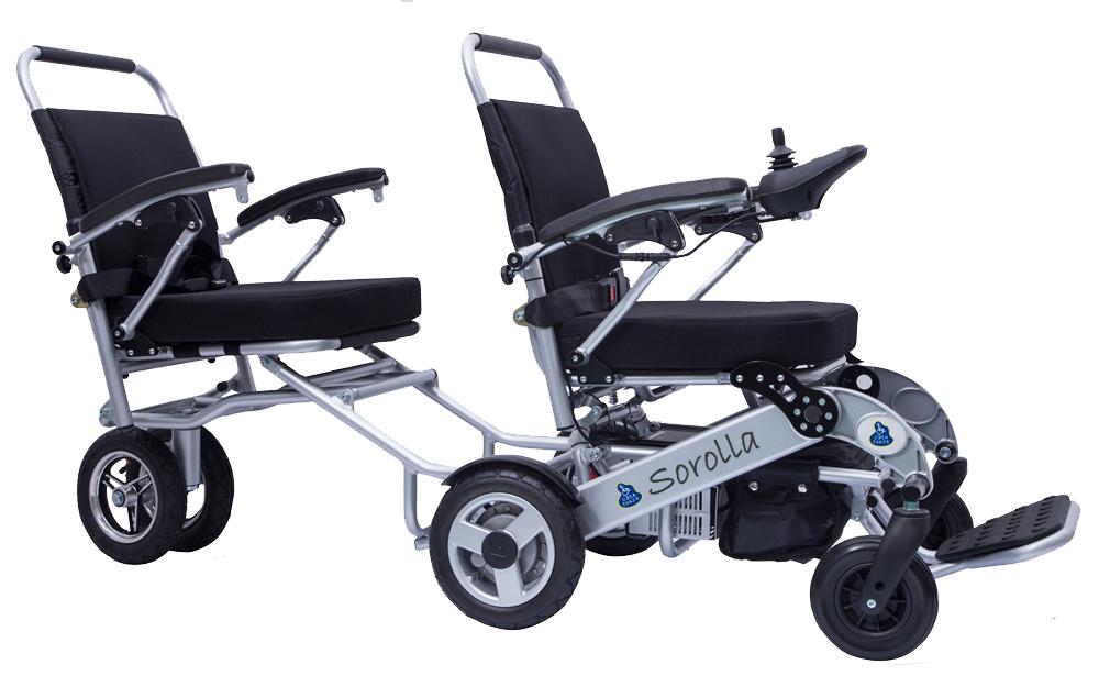 silla de ruedas electrica plegable malibu modelo a07